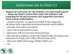 achieveme nts to date 1