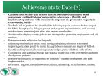 achieveme nts to date 3