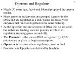 operons and regulons