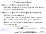 positive regulation
