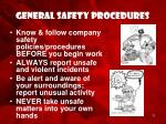 general safety procedures