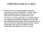 construction of a will