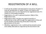 registration of a will