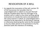 revocation of a will
