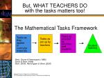 but what teachers do with the tasks matters too