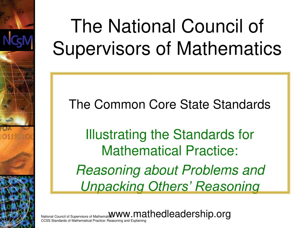 the national council of supervisors of mathematics l.