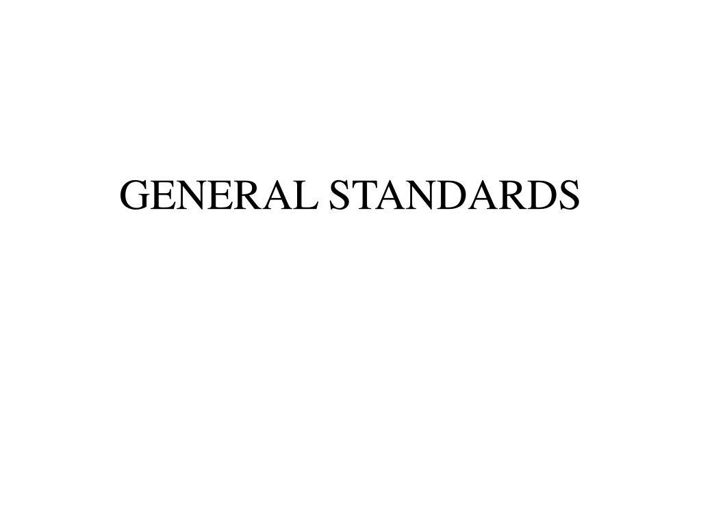 general standards l.