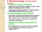 3 refreezing stage change agent actions