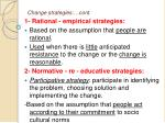 change strategies cont