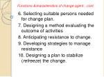 functions characteristics of change agent cont