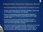 independent payment advisory board
