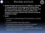 mandate and goals