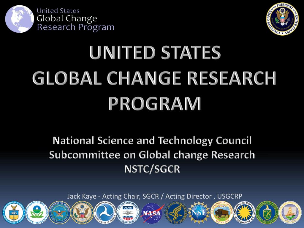 national science and technology council subcommittee on global change research nstc sgcr l.
