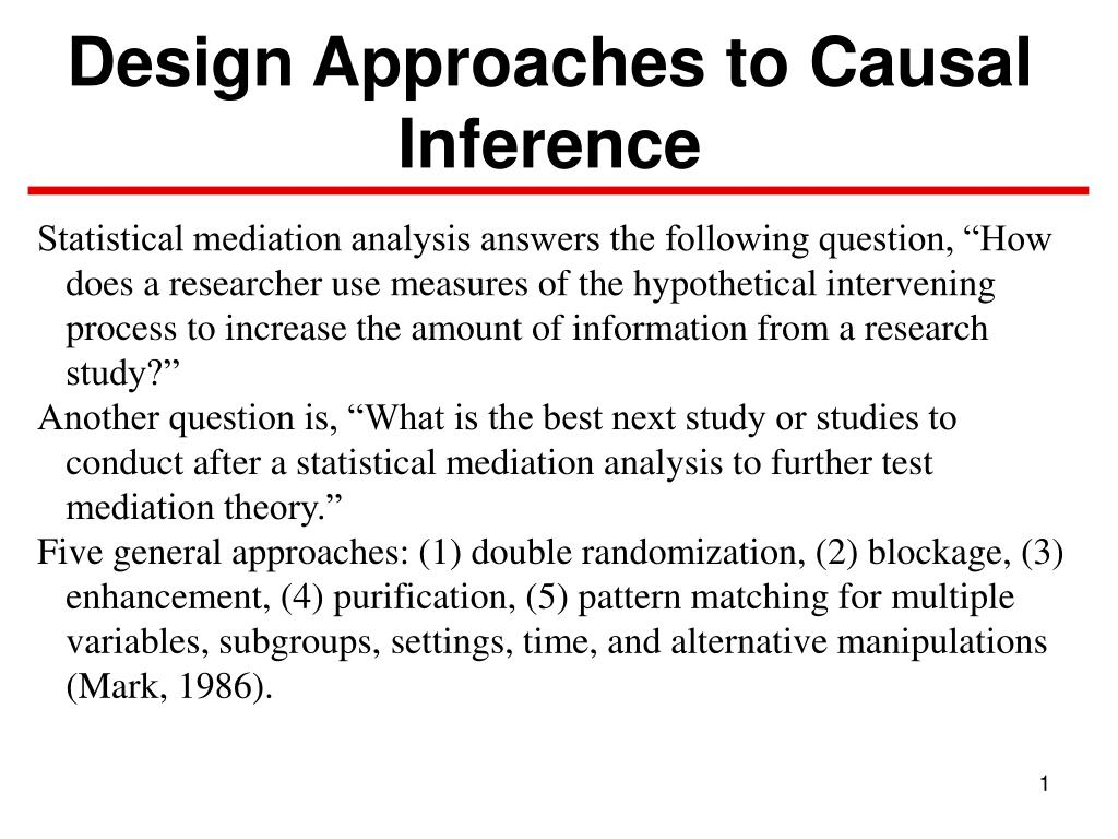 design approaches to causal inference l.