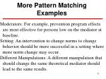 more pattern matching examples