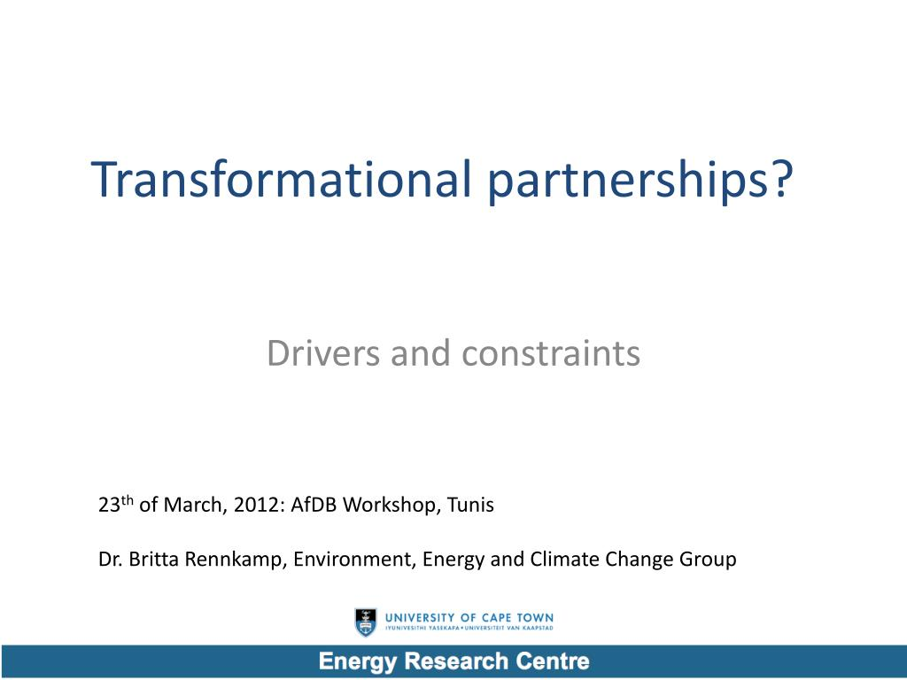 transformational partnerships l.