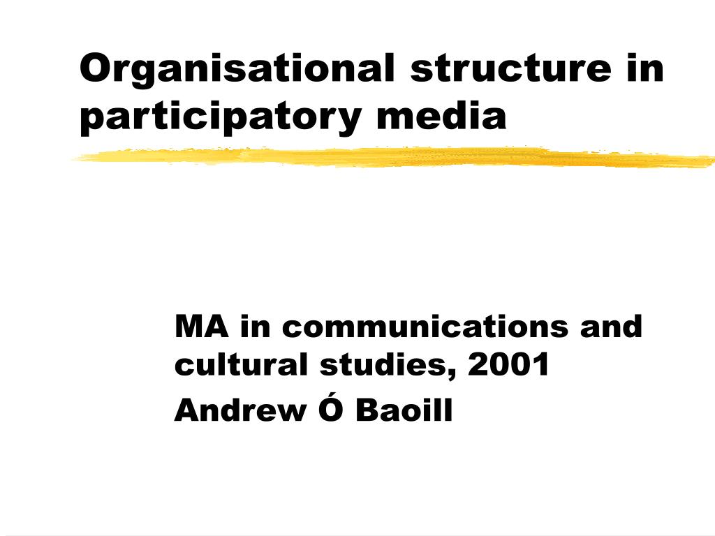 organisational structure in participatory media l.