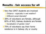results fair access for all
