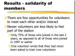 results solidarity of members