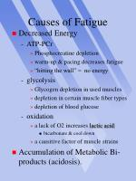 causes of fatigue