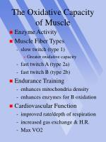the oxidative capacity of muscle