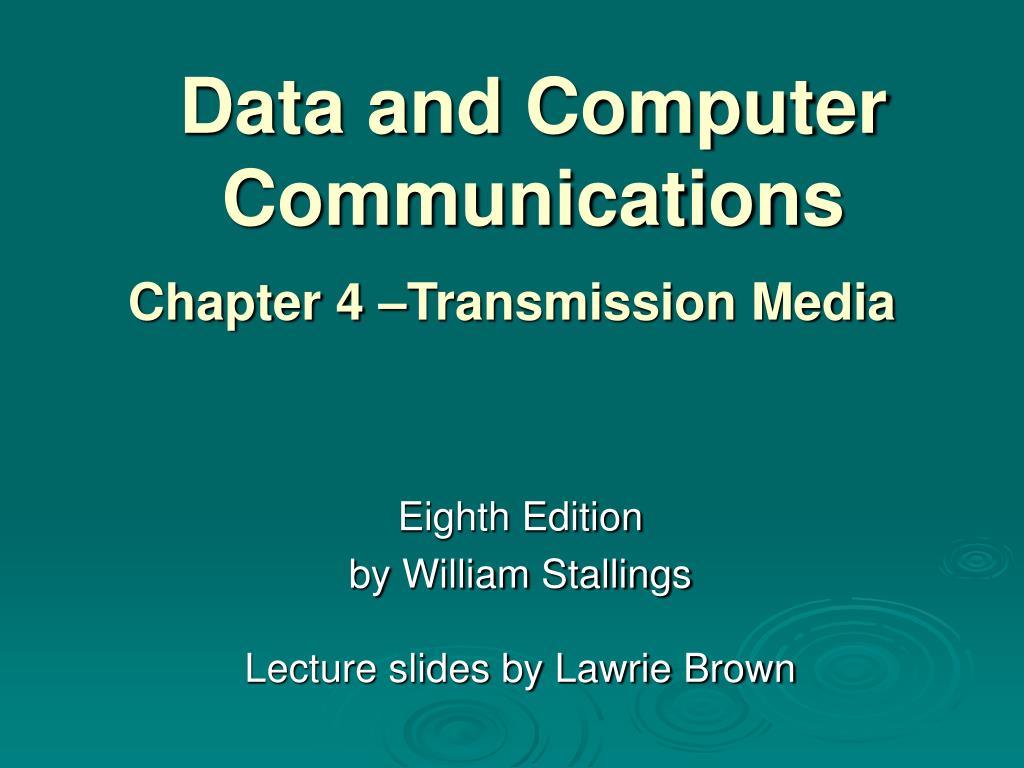 data and computer communications l.