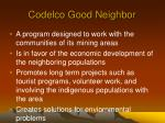 codelco good neighbor