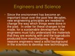 engineers and science