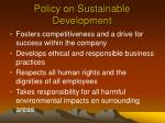 policy on sustainable development9