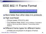 ieee 802 11 frame format