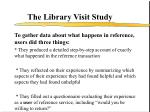 the library visit study
