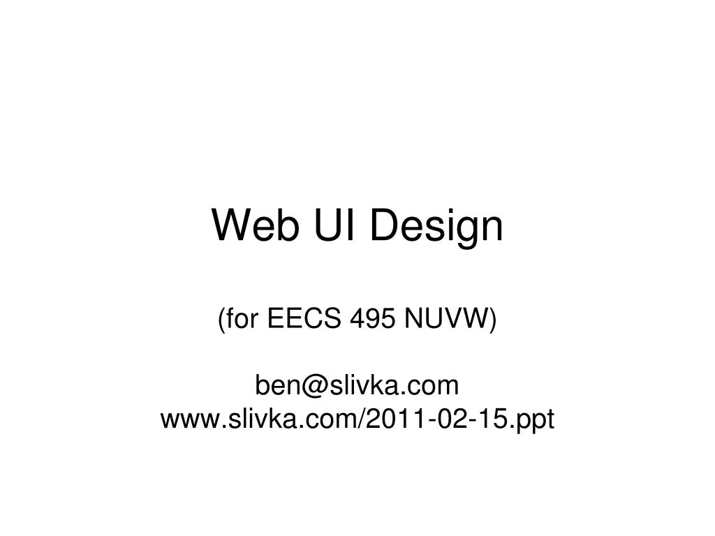 web ui design l.