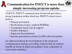 communication for pmtct is more than simply increasing program uptake