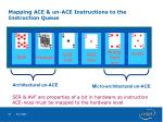 mapping ace un ace instructions to the instruction queue