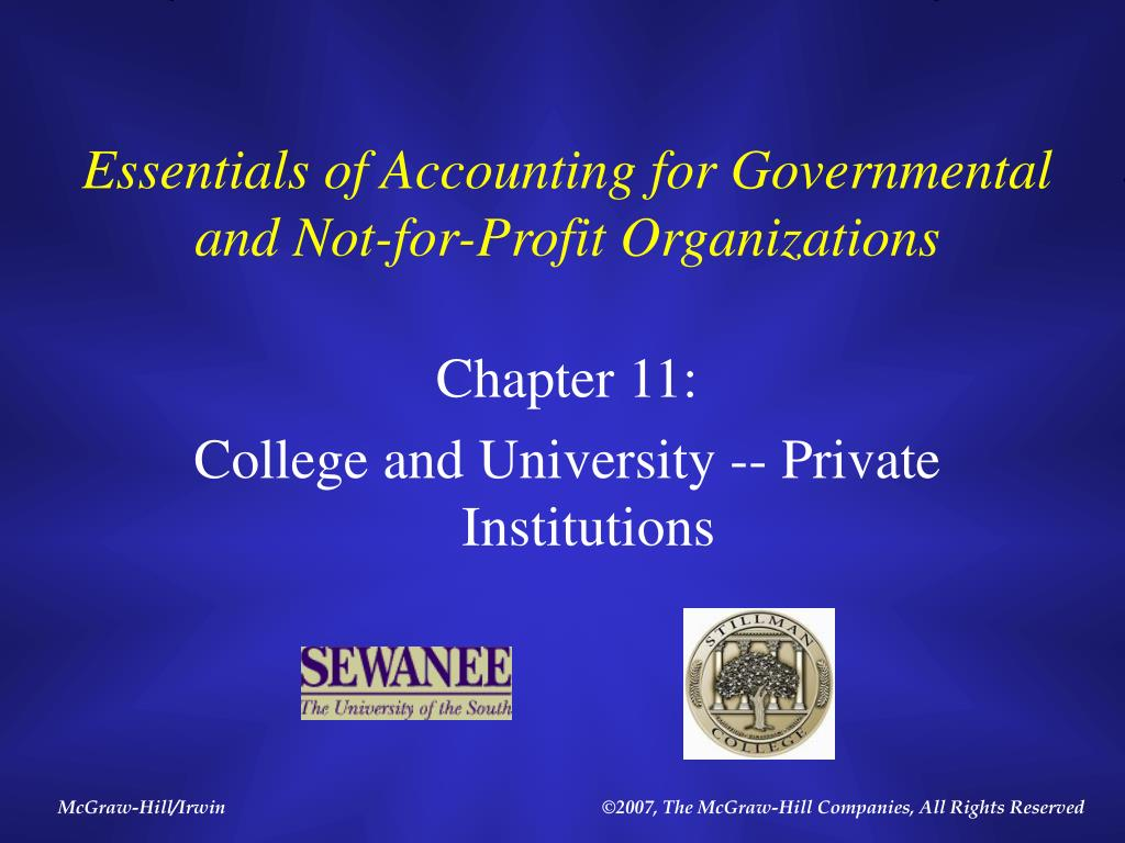 essentials of accounting for governmental and not for profit organizations l.