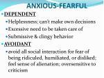 anxious fearful