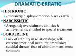 dramatic erratic