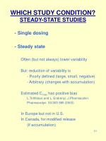 which study condition steady state studies10