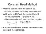 constant head method