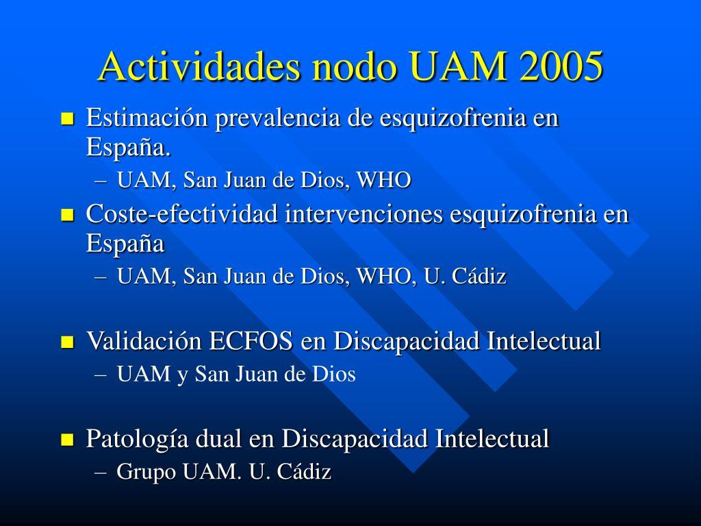 actividades nodo uam 2005 l.