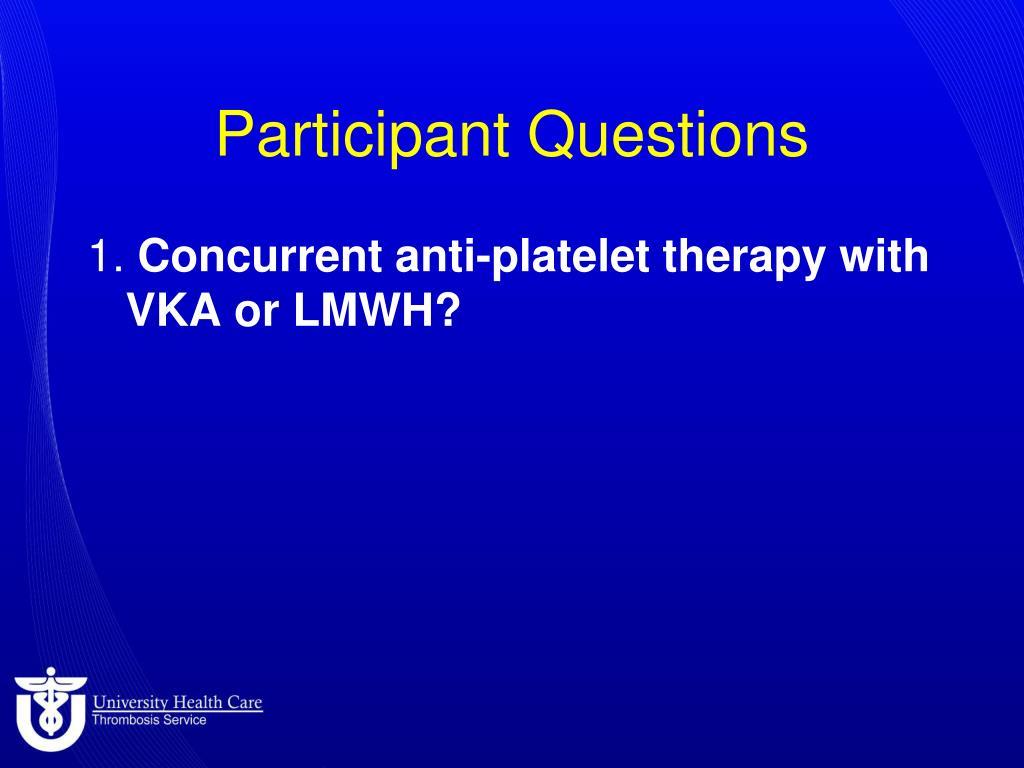 participant questions l.