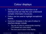 colour displays