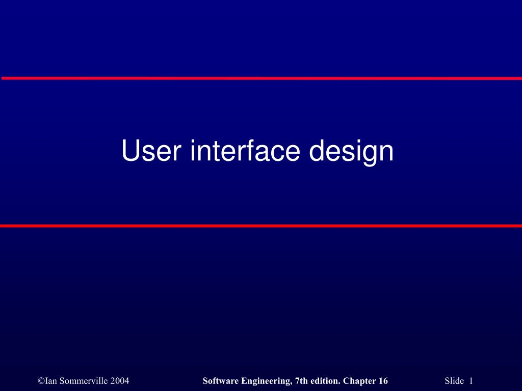 user interface design l.