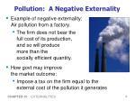 pollution a negative externality