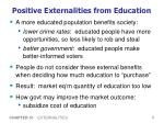 positive externalities from education