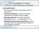 the compilation process phase iv code optimization continued28