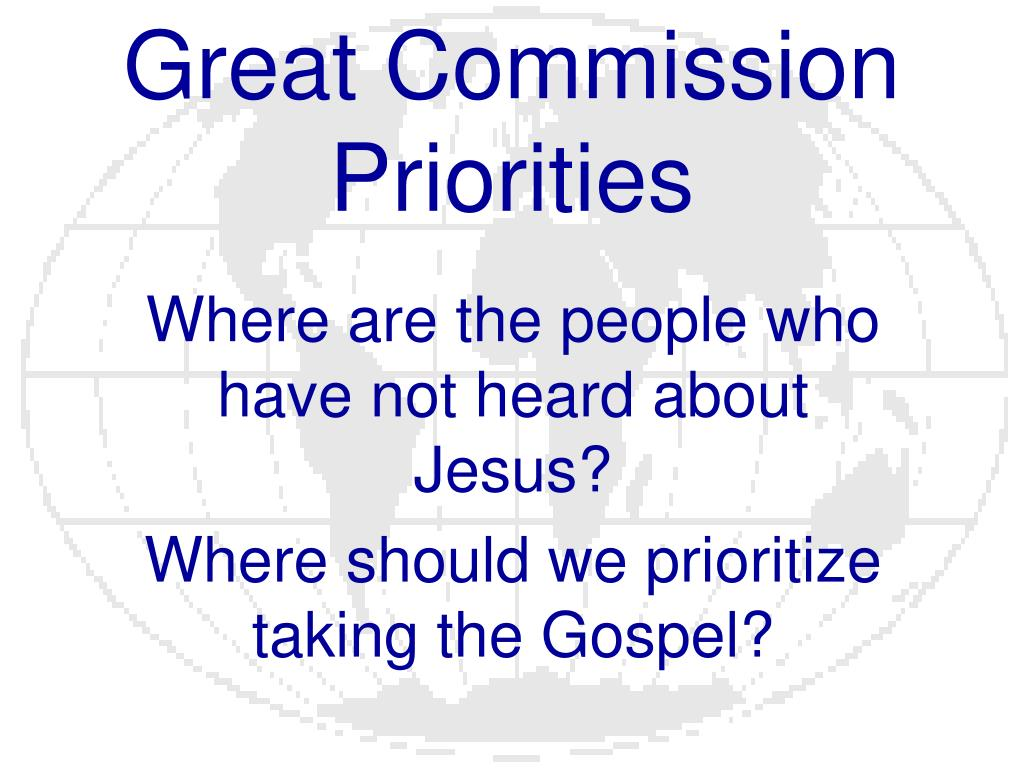 great commission priorities l.