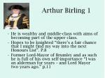 arthur birling 1