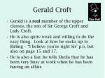 gerald croft