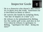 inspector goole
